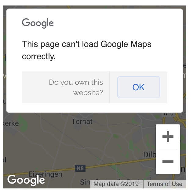 Fix 'This page can't load Google Maps correctly' error on