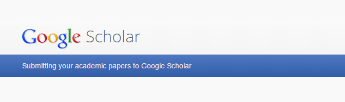 Submit academic research paper to Google Scholar